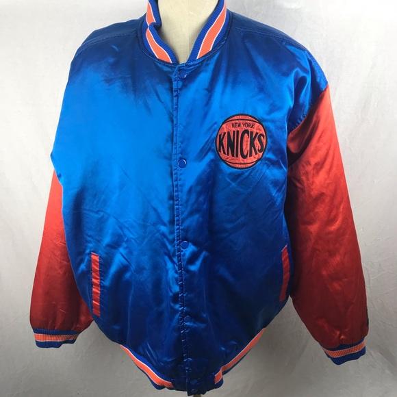 a8e77f207 Hardwood Classics Other - Vtg NEW YORK KNICKS Satin Jacket G-III NBA